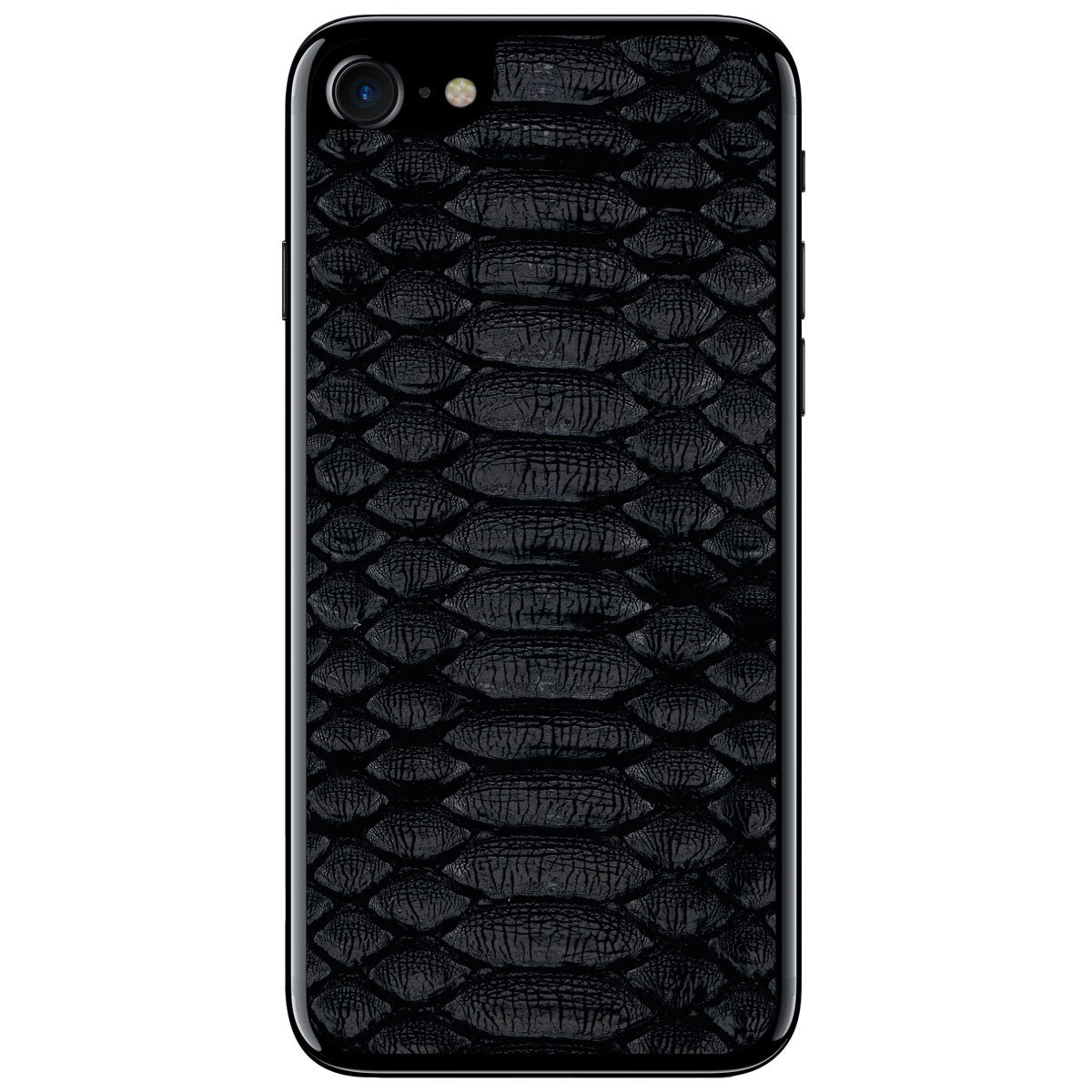 Black Python iPhone 8 Leather Skin