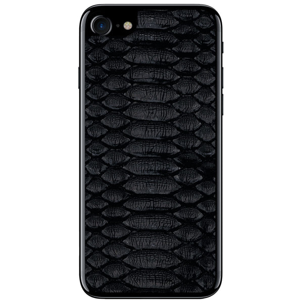 Black Python iPhone 7 Leather Skin