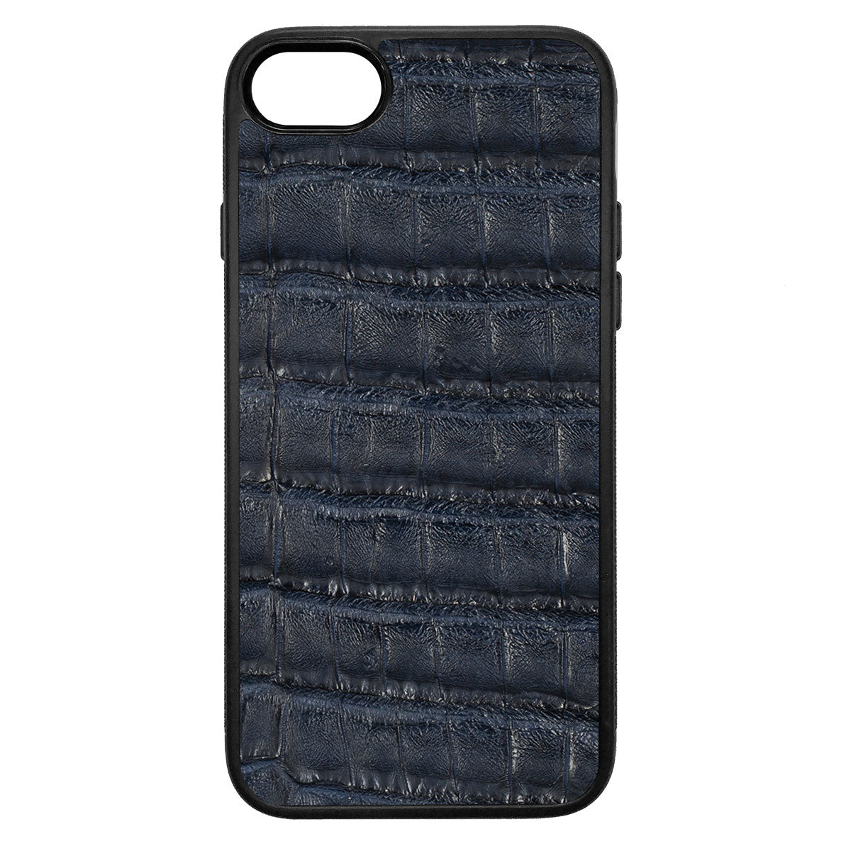 Navy Crocodile iPhone 7 Leather Case