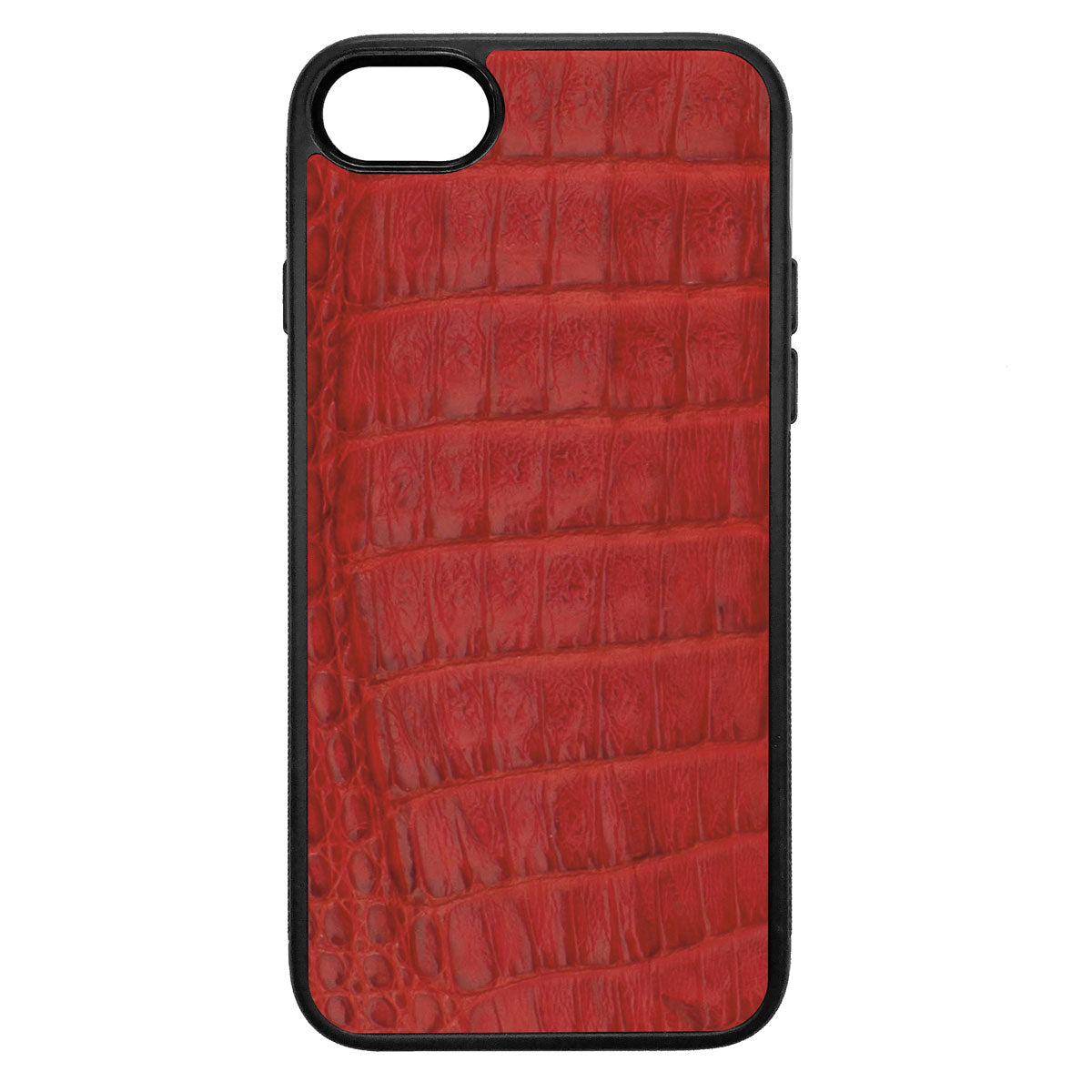 Red Crocodile iPhone 8 Leather Case