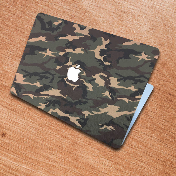 Camouflage MacBook Leather Cover