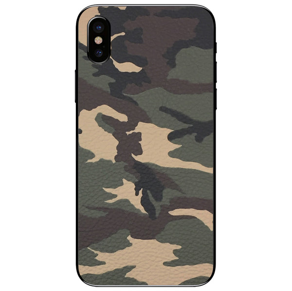 Camouflage iPhone XS Leather Skin
