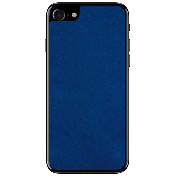 Cobalt Pony Hair iPhone 8 Leather Skin