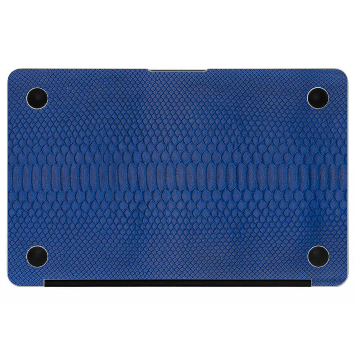 Cobalt Python MacBook Leather Bottom Cover