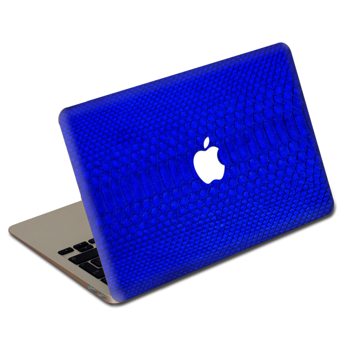 Cobalt Python MacBook Leather Cover