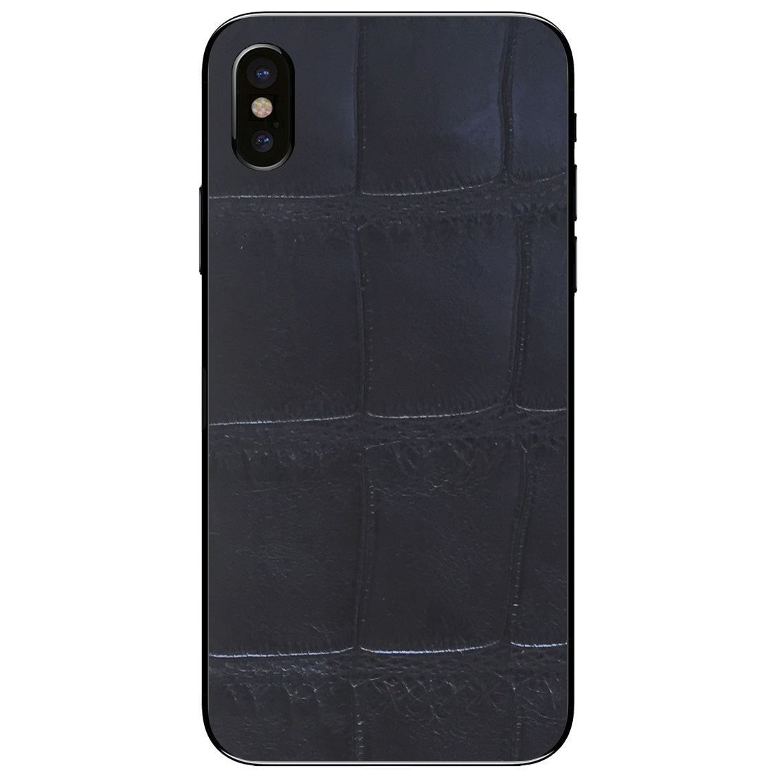 XL Black Alligator iPhone X Leather Skin