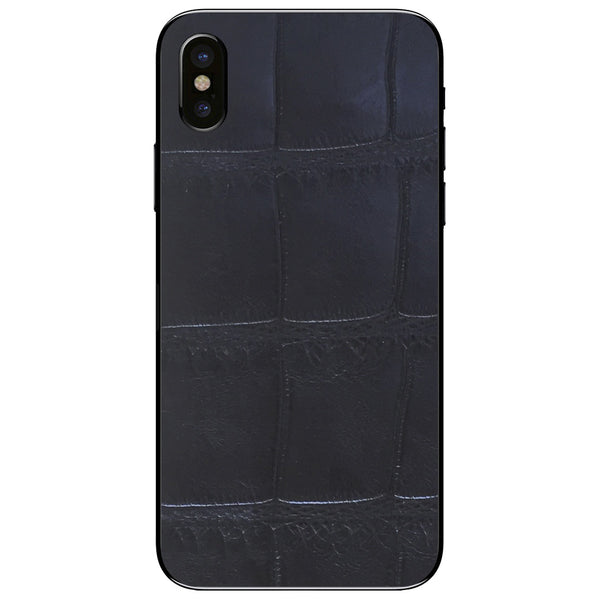 XL Black Alligator iPhone XS Leather Skin