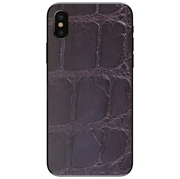 XL Brown Alligator iPhone XS Leather Skin