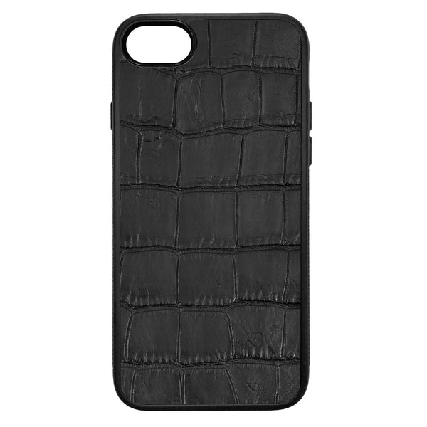 Black Alligator iPhone 7 Leather Case