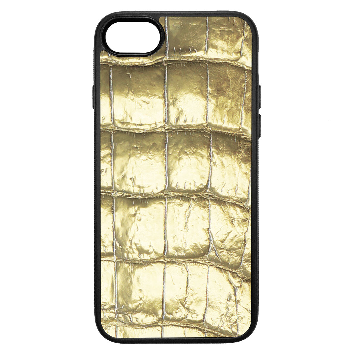 Gold Alligator iPhone 7 Leather Case