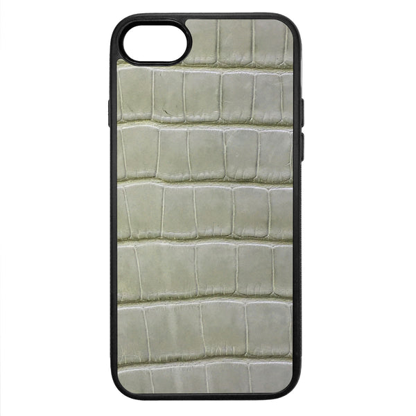 Laurel Green Alligator iPhone 8 Leather Case