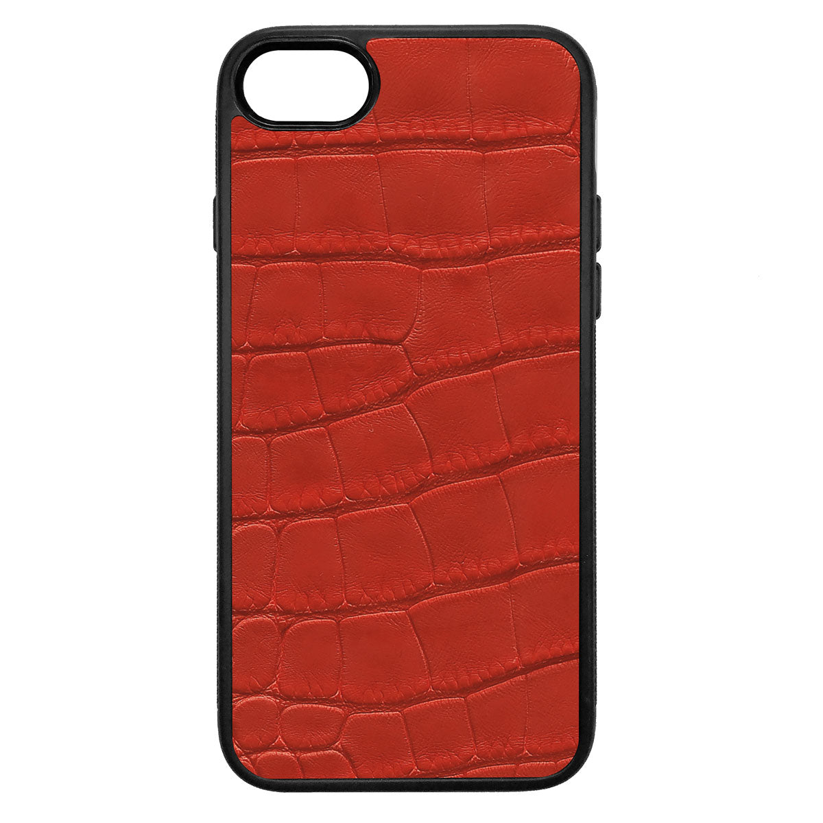 Red Alligator iPhone 8 Leather Case
