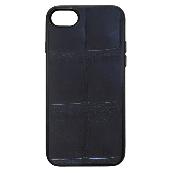 XL Black Alligator iPhone 8 Leather Case