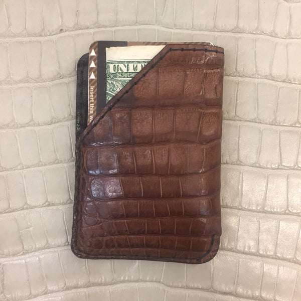 Brown Crocodile Card Holder