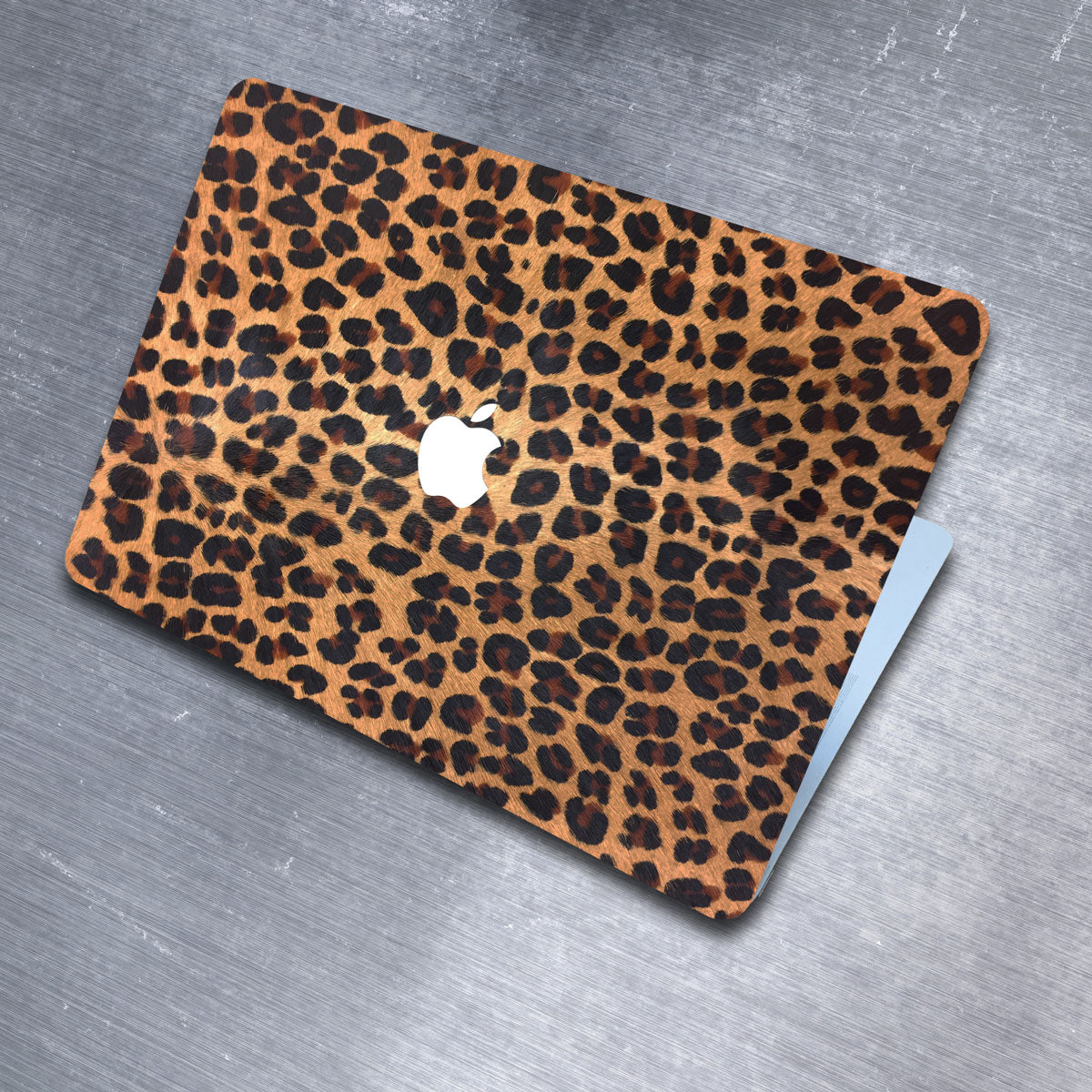 Leopard Print Pony Hair MacBook Leather Cover