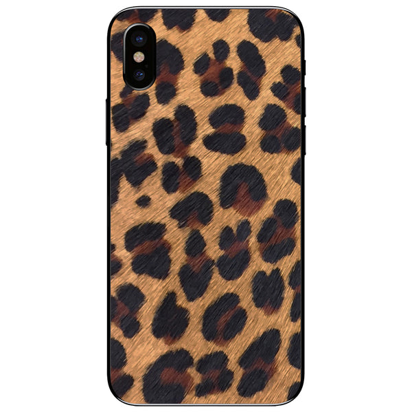 Leopard Print Pony Hair iPhone X Leather Skin