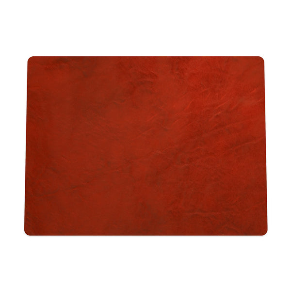 Crimson Leather Mouse Pad