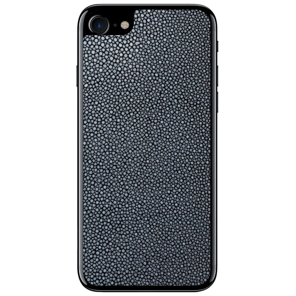 Navy Polished Stingray iPhone 7 Leather Skin