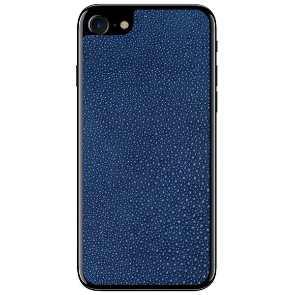 Navy Stingray iPhone 7 Leather Skin
