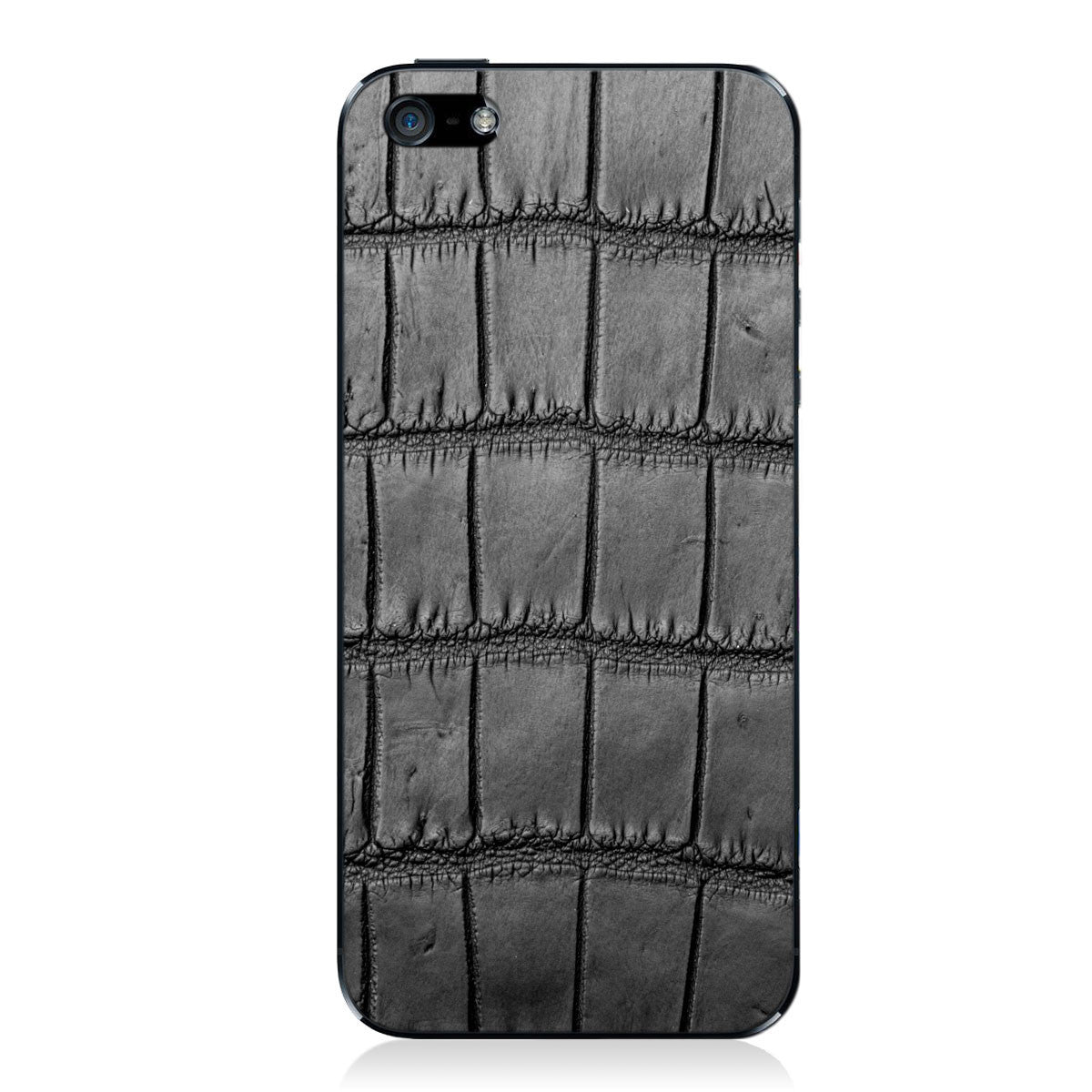 Black Oiled American Alligator iPhone 5 - 5S - SE Leather Skin