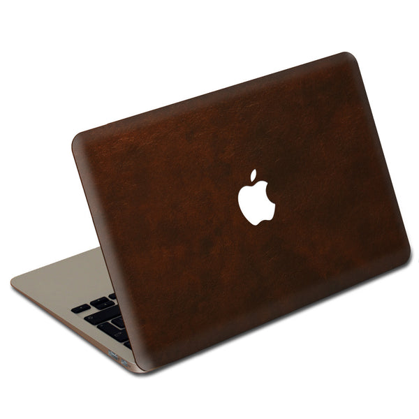 Oil Stained Brown MacBook Leather Cover