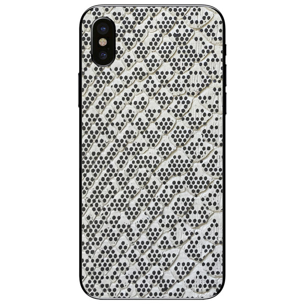 Pixelated Python Back iPhone XS Leather Skin