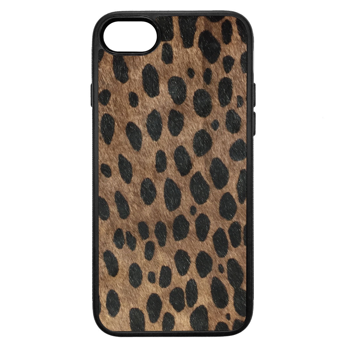 Brown Cheetah Pony Hair iPhone 8 Leather Case