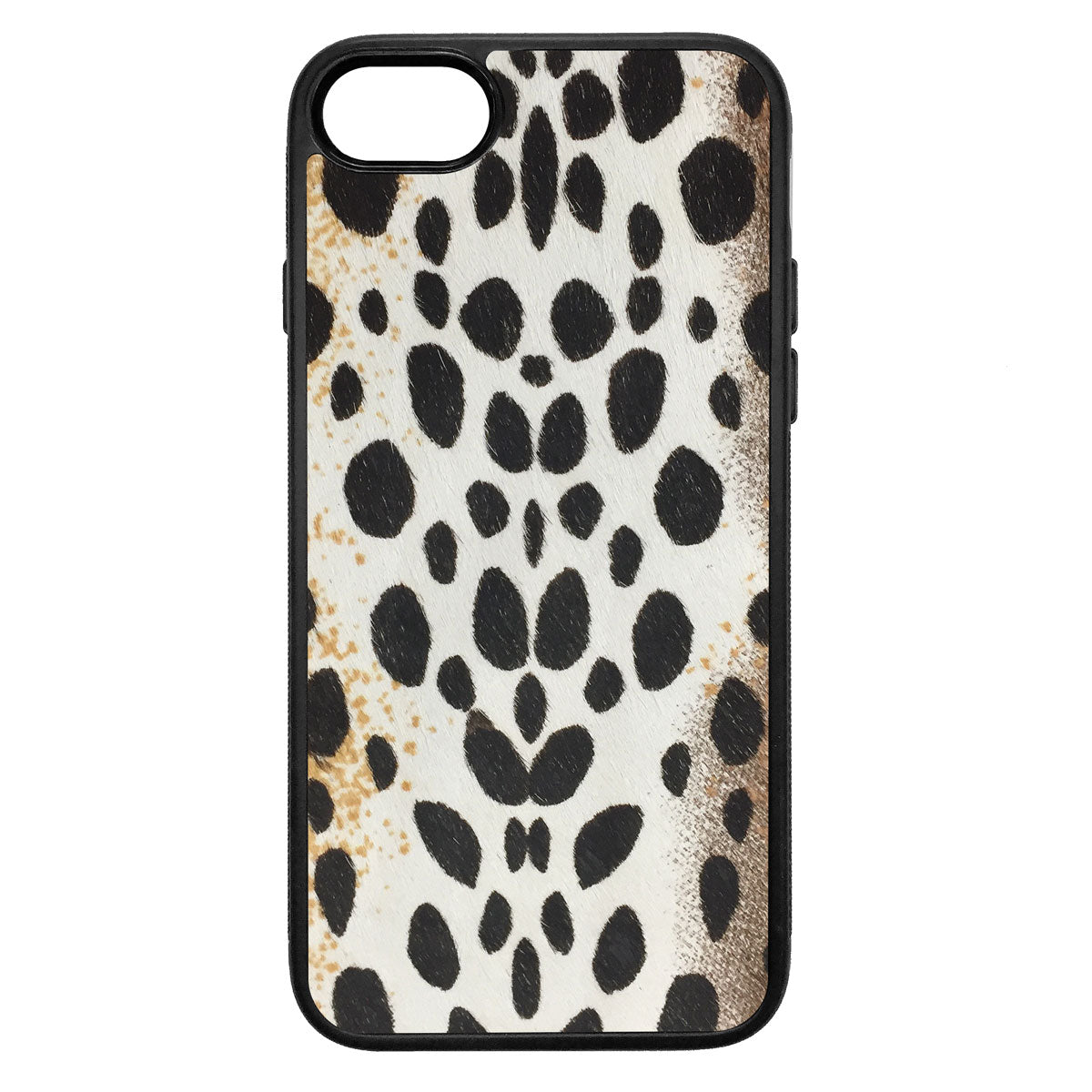 White Cheetah Pony Hair iPhone 8 Leather Case