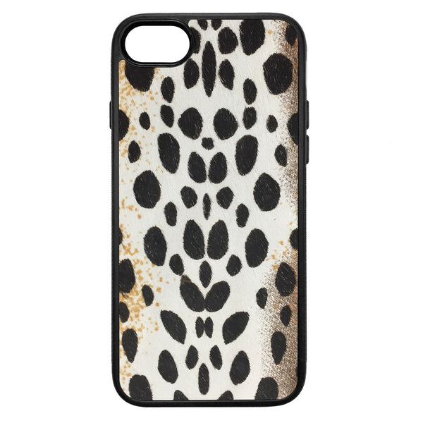 White Cheetah Pony Hair iPhone 7 Leather Case