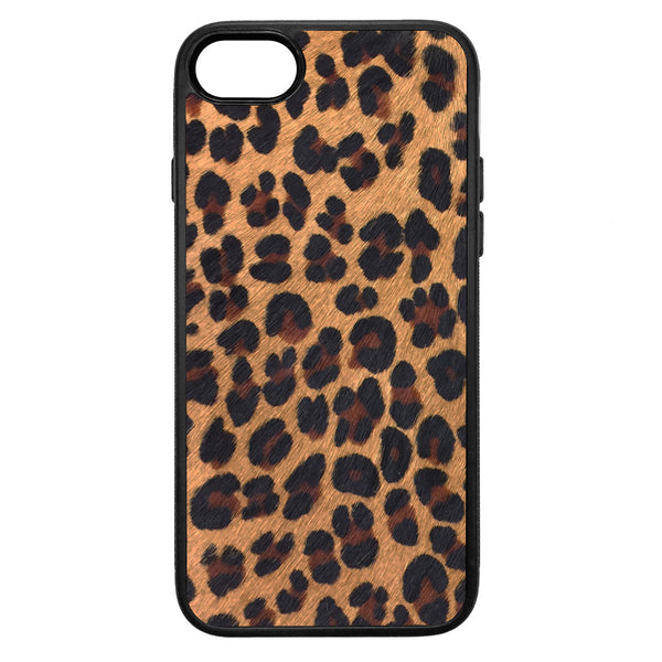 Leopard Print Pony Hair iPhone 8 Leather Case