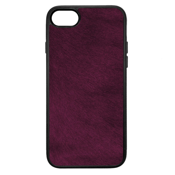 Violet Pony Hair iPhone 8 Leather Case