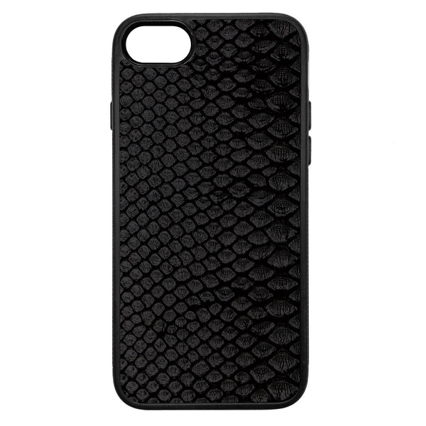 Black Python Back iPhone 7 Leather Case