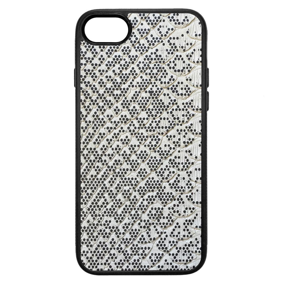 Pixelated Python Back iPhone 7 Leather Case