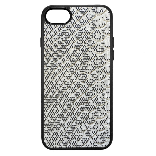 Pixelated Python Back iPhone 8 Leather Case