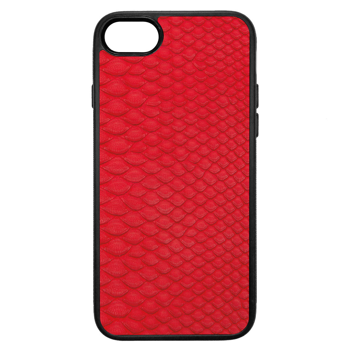 Red Python Back iPhone 8 Leather Case