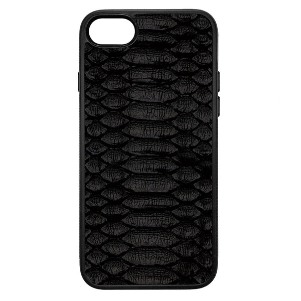 Black Python iPhone 8 Leather Case