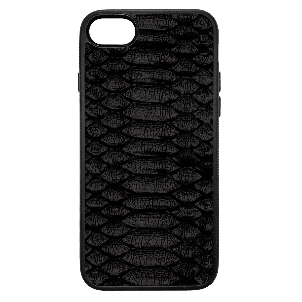 Black Python iPhone 7 Leather Case