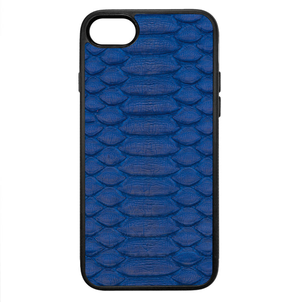 Cobalt Python iPhone 7 Leather Case
