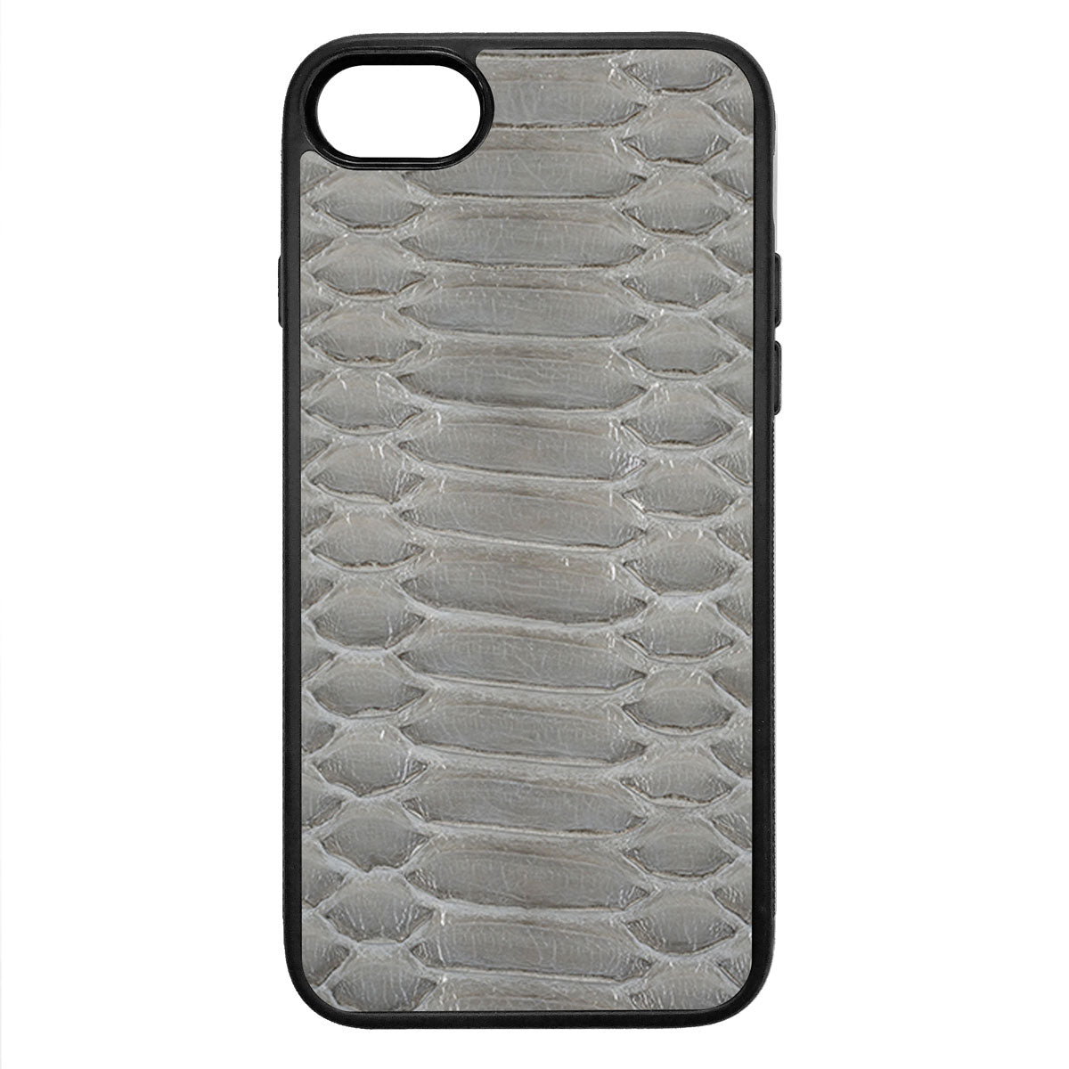 Gloss Gray Python iPhone 7 Leather Case