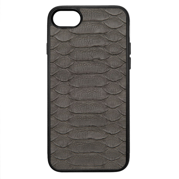 Gray Python iPhone 8 Leather Case