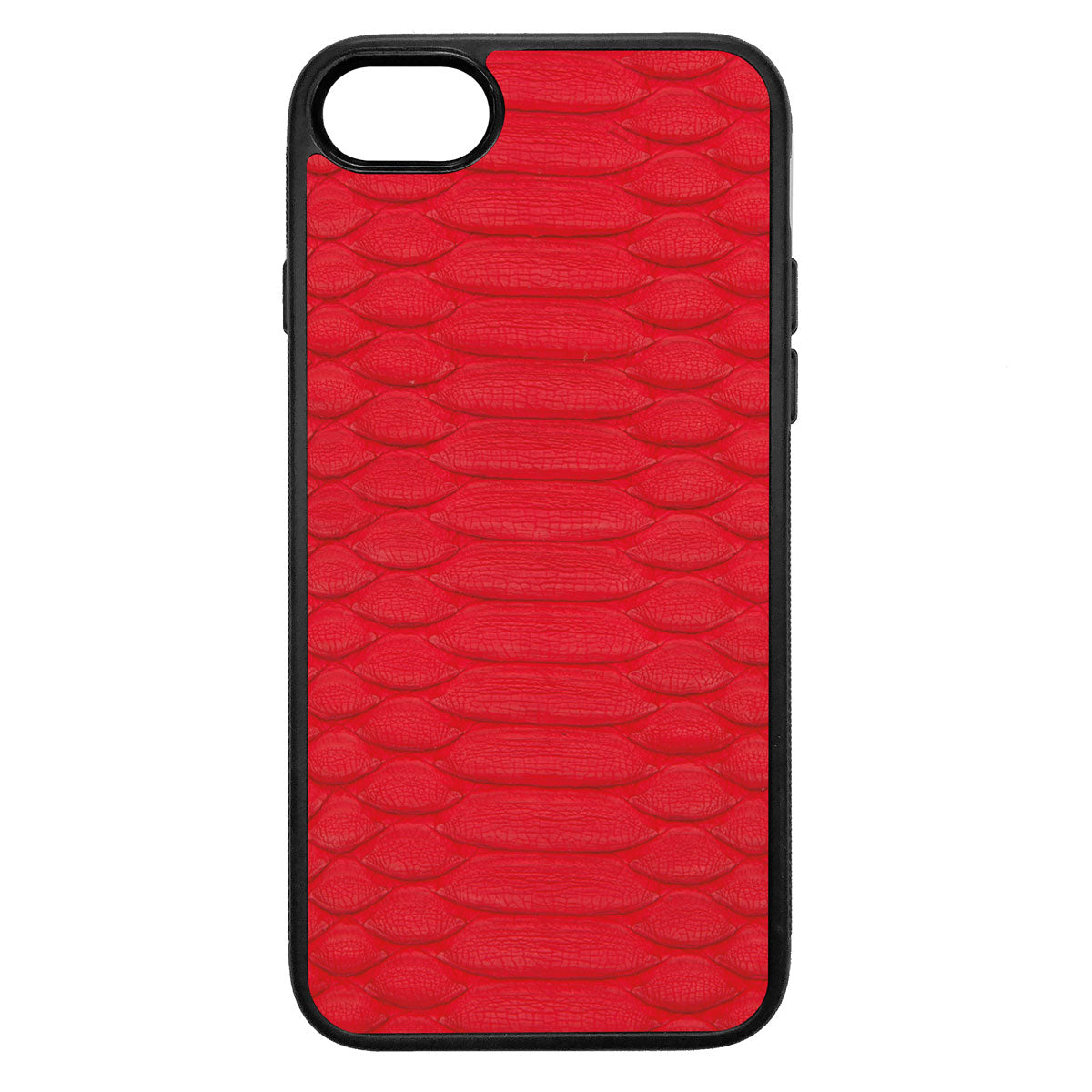 Red Python iPhone 8 Leather Case