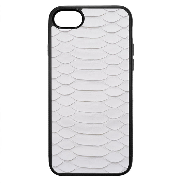 White Python iPhone 8 Leather Case