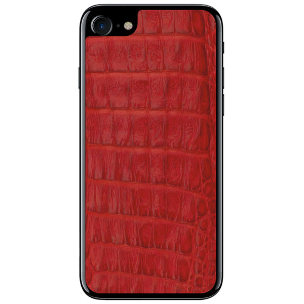 Red Crocodile iPhone 8 Leather Skin