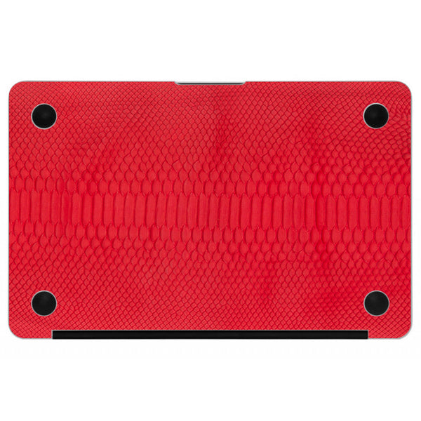 Red Python MacBook Leather Bottom Cover