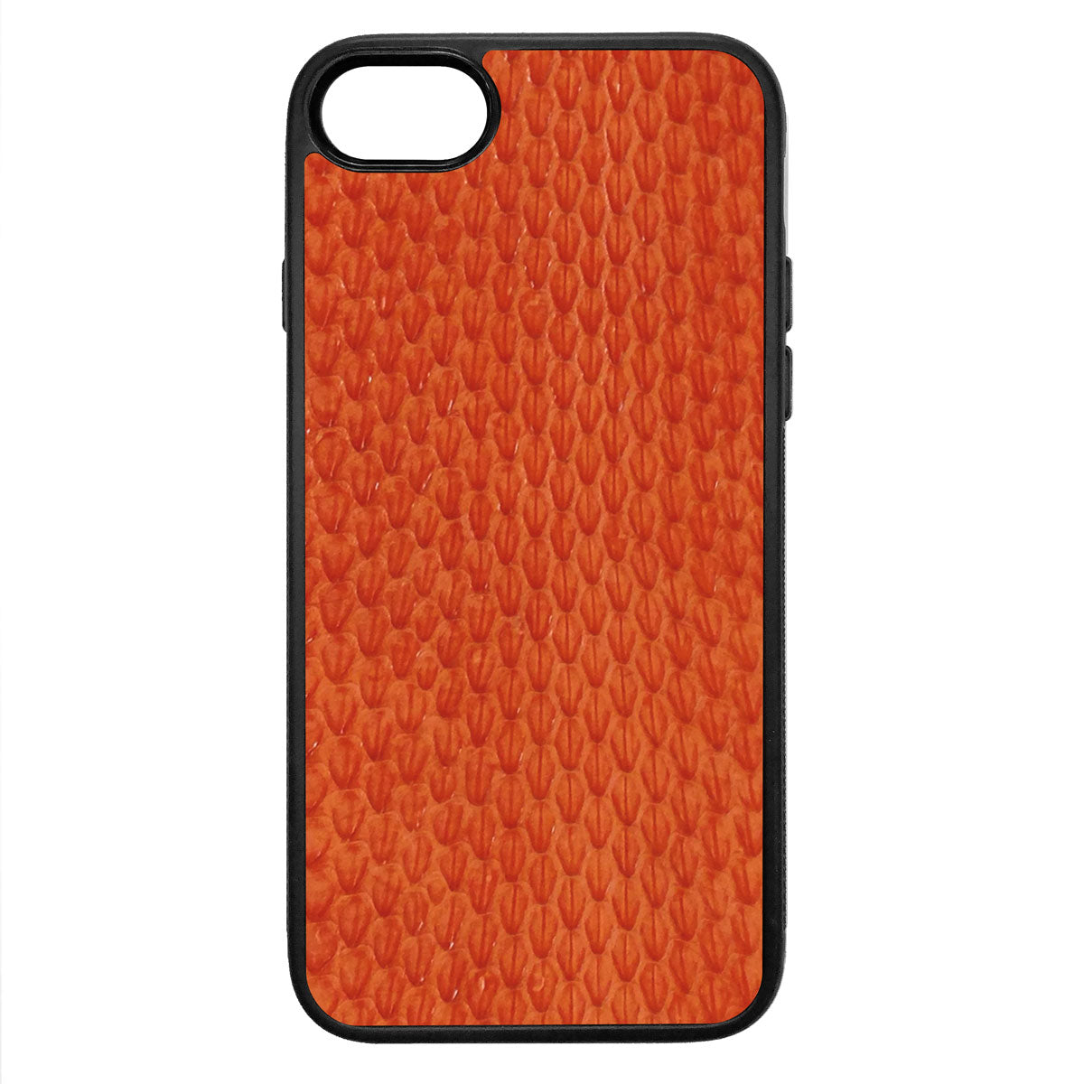 Orange Whip Snake iPhone 8 Leather Case