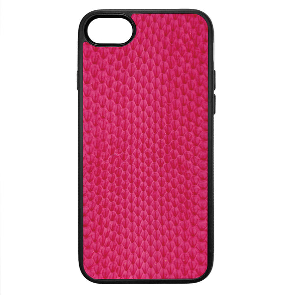Pink Whip Snake iPhone 8 Leather Case