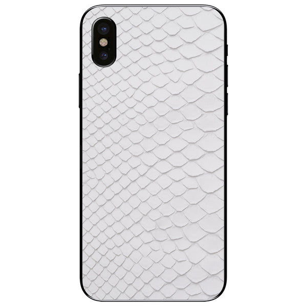 White Python Back iPhone XS Leather Skin