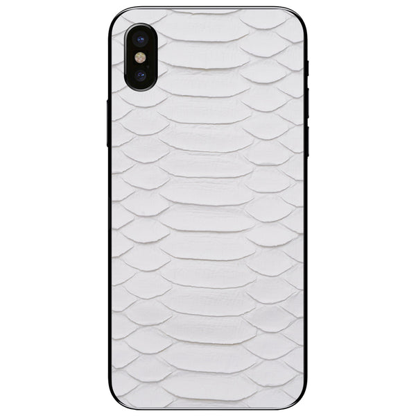 White Python iPhone XS Leather Skin