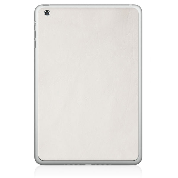 White iPad Mini Leather Skin