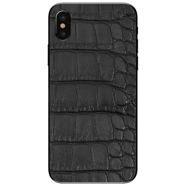 Black Alligator iPhone XS Leather Skin